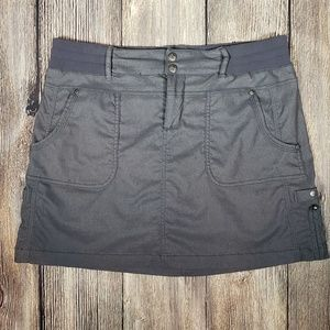 Athleta grey athletic cargo skort skirt size 8